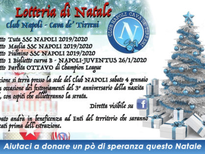Lotteria di BENEFICENZA - Club Napoli Cava de' Tirreni